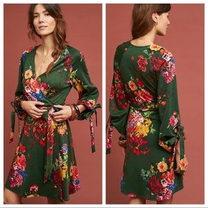 🆕NWT Eva Franco Dahlia Wrap Dress w/ tie sleeves